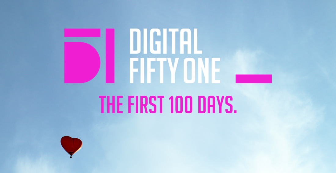 100 days. It's gone in a flash.